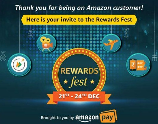 Read more about the article Amazon Rewards Fest- Get Free Rs.225 Amazon Pay Balance, Free Food & More Exciting Offers