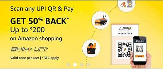 Read more about the article Amazon Scan Pay- Get 50% Cashback Upto Rs.200 On Amazon Shopping