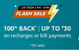 Read more about the article Amazon Flash Sale Tricks – Get 100% Cashback On Mobile Recharge Or Bill Payments