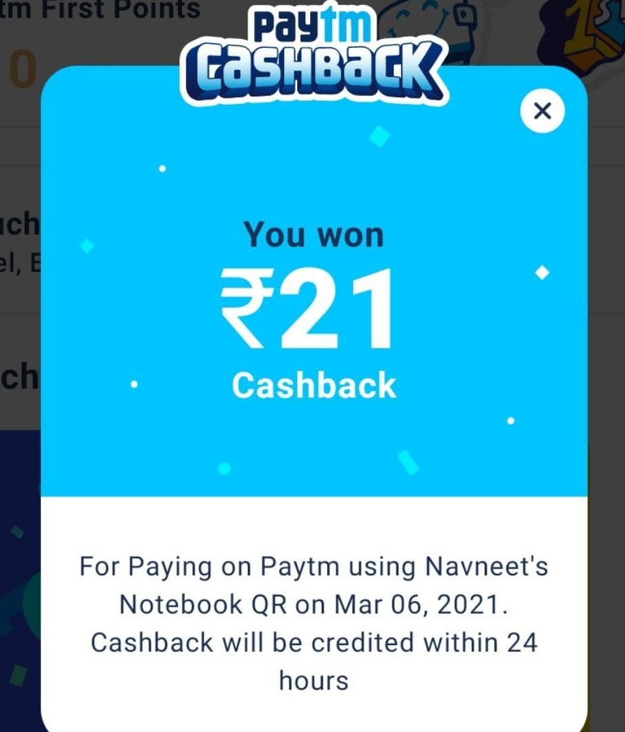 Read more about the article Paytm Scan & Pay Trick – Get Rs.21 Cashback On Mobile Recharge or Bill Payment